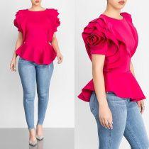 Top rosa flor rosa