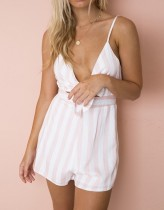Stripped Straps Cut Out Rompers