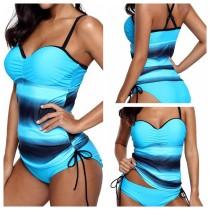 Wide Stripped Modest zwemkleding uit één stuk