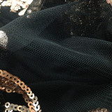 Платье для клуба Gold and Black Sequins