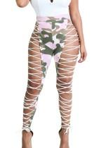 Pantalones con cordones sexy con cordones