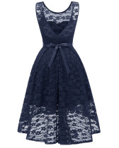 A-Linien-Kleid mit V-Form und Rückenausschnitt