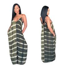 Robe longue à bretelles larges et dénudées