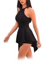Scoop Neck Sheer Rompers-jurk