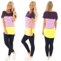 Camicia pigra a strisce colorate