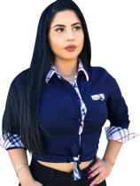 Wear-to-Work-Bluse mit Kontraststreifen