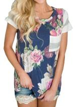 Blumendruck O-Neck Shirt