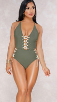 Sexy Lace-Up High Waist Swimsuit