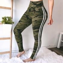 Sports Camou Legging com faixa de contraste