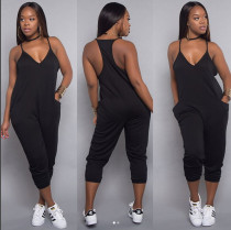 Sports Track Jumpsuit with Pockets