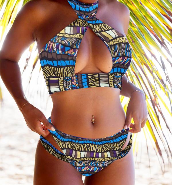 Hoogwaardige tweedelige zwemkleding van Afrika