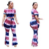 Top de rayas anchas multicolor y pantalones