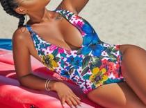 Цветочная печать One-Piece Swimwear