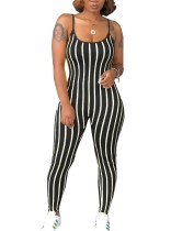Tight Stripes Strap Jumpsuit