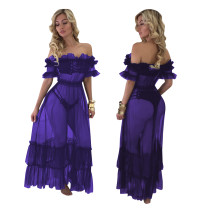 Sexy Off Shoulder Ruffles Long Party Dress