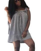 Mini vestido de rayas blancas y negras