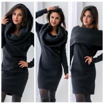 Multi-way Black Hoody Dress