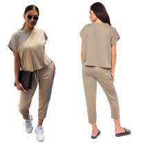 Sheer Casual Top y pantalones