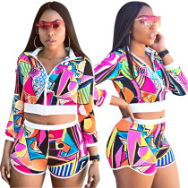 Colorful Print Jessey and Shorts