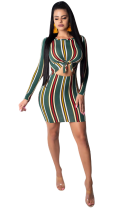 Sexy Stripes Colorful Bodycon Dress