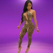 Sexy Leopard Tight Clubbingoverall