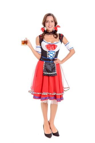 Sexy langes Bier Mädchen Kostüm