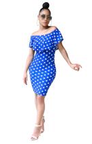 Платье коктейльное из плеча