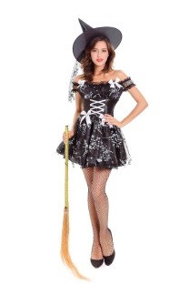 Halloween Sexy Black Witch Costume