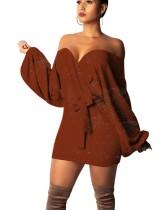 Sexy Schatz Wickelkleid mit Pop-Ärmeln