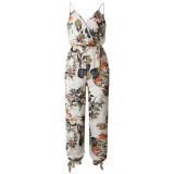 Sexy Straps Flower Casual Jumpsuit