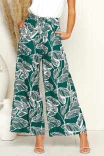 Wide Legges Print Resort Pants