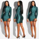 Sexy grünes Metallic-Partykleid