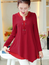 Fit-and-Flare rode blouse