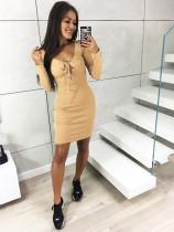 Mini-jurk met lange mouwen en lange mouwen