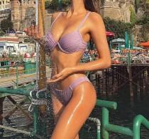 Maillot de bain dur deux pièces violet