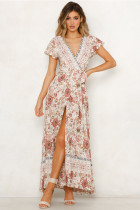 Vestido de manga larga con estampado floral y estampado de flores