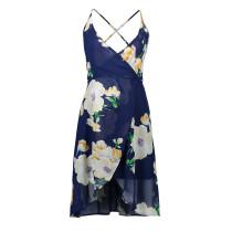 Обернутое платье с цветочным принтом