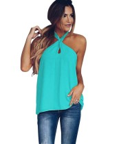 Criss Cross Halfter Plain Shirt