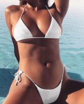 Zweiteiliger brasilianischer glänzender Bikini
