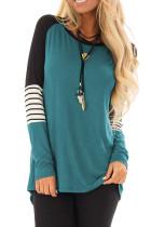 Camisa básica de manga larga color block