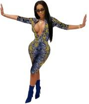 Schlangenhaut - Sexy, knielanger, figurbetonter Overall