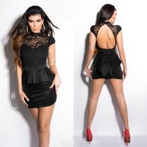 Mini-Club-Kleid mit Schlüsselloch-Rückenspitze