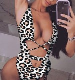 Leopard Sexy One-Piece Erotic Swimwear