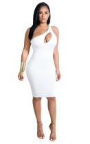 Bodycon-jurk met één schouder uitgesneden