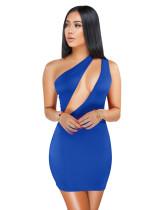 Mini robe coupe asymétrique