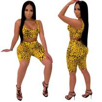 Leopard Sexy Bra Top et Short