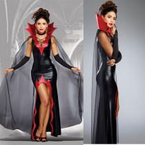 Costume de sorcière rouge et noir