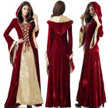 Rot und Gold Hexe Kostüm