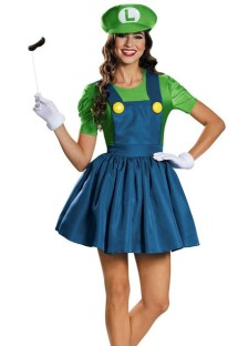 Blue and Green Super Marie Costume