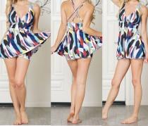 Imprimir traje de baño de dos piezas modesto